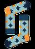 Blaue HAPPY SOCKS Socken NAUTICAL STAR SOCK  - small