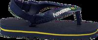 Blaue HAVAIANAS Pantolette BABY BRASIL LOGO II  - medium