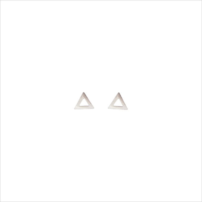 Silberne ALLTHELUCKINTHEWORLD Ohrringe PETITE EARRINGS TRIANGLE - large