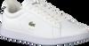 Weiße LACOSTE Sneaker CARNABY EVO DAMES  - small