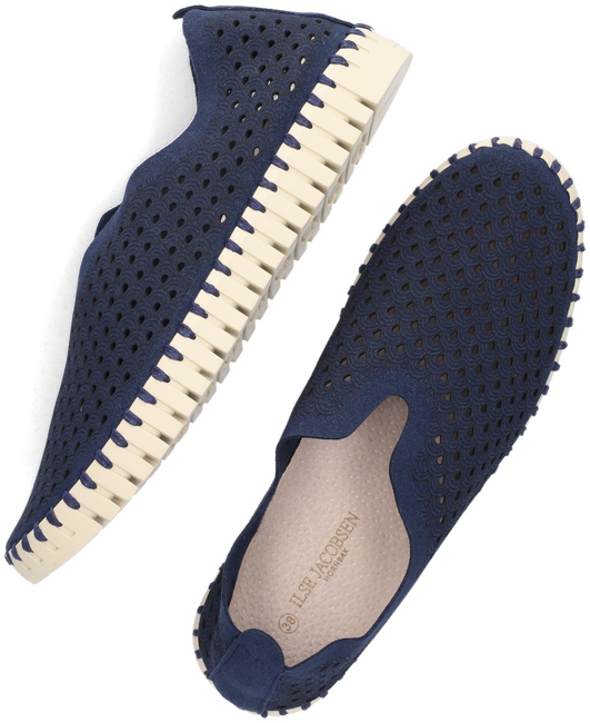 Blaue ILSE JACOBSEN Slipper TULIP  - large