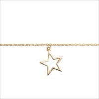 Goldfarbene ALLTHELUCKINTHEWORLD Armband SOUVENIR BRACELET STAR - medium