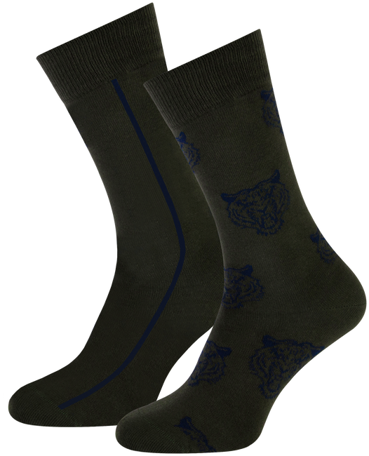 Grüne MARCMARCS Socken ERIC COTTON 2-PACK - large