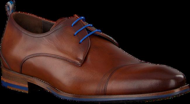 Cognacfarbene FLORIS VAN BOMMEL Business Schuhe 18006 - large