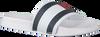 Weiße TOMMY HILFIGER Badelatsche FLAG PRINT POOL SLIDE  - small