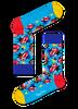 Blaue HAPPY SOCKS Socken ROLLING STONES - small