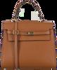Cognacfarbene NOTRE-V Handtasche BENTE  - small