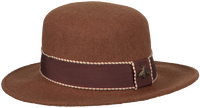 Braune ROMANO SHAWLS AMSTERDAM Hut HAT RIBBON  - medium