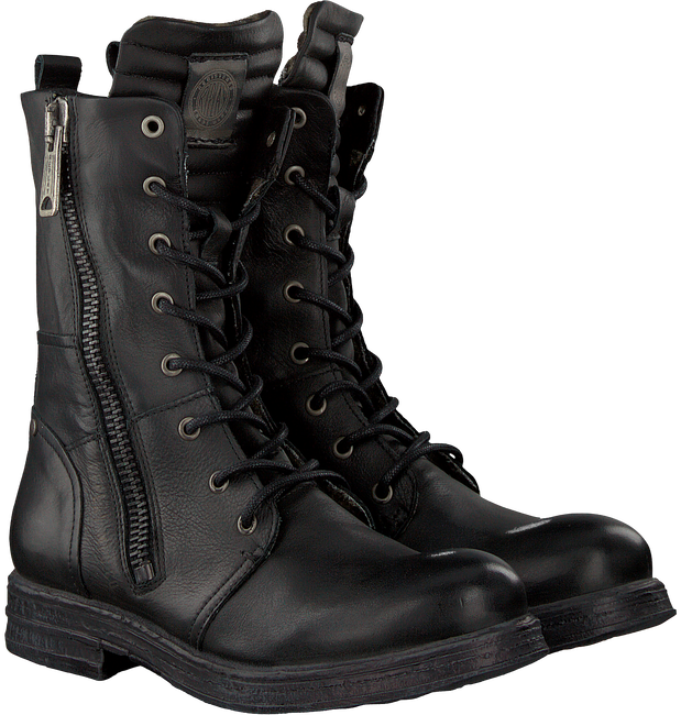 Schwarze REPLAY Biker Boots RL260016L EVY - large
