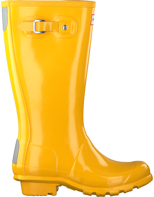 Gelbe HUNTER Gummistiefel ORIGINAL KIDS GLOSS - large