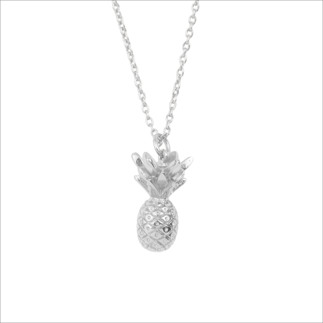 Silberne ALLTHELUCKINTHEWORLD Kette SOUVENIR NECKLACE PINEAPPLE - large