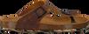 Cognacfarbene DEVELAB Sandalen 48165 - small