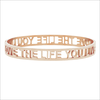 Goldfarbene MY JEWELLERY Armband LOVE THE LIFE YOU LIVE OPEN - small