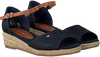 Blaue TOMMY HILFIGER Sandalen ROPE WEDGE SANDAL  - small