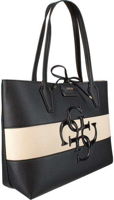 Schwarze GUESS Handtasche BOBBI INSITE OUT TOTE  - large