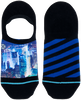Mehrfarbige/Bunte XPOOOS Socken CITYLIGHTS INVISIBLE  - small