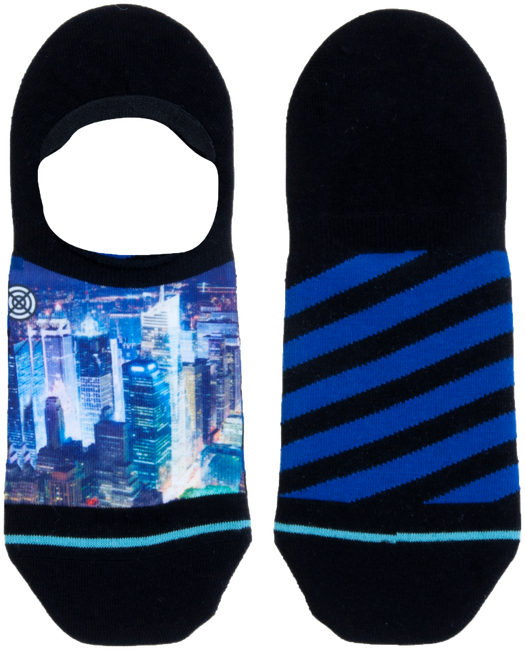 Mehrfarbige/Bunte XPOOOS Socken CITYLIGHTS INVISIBLE  - large