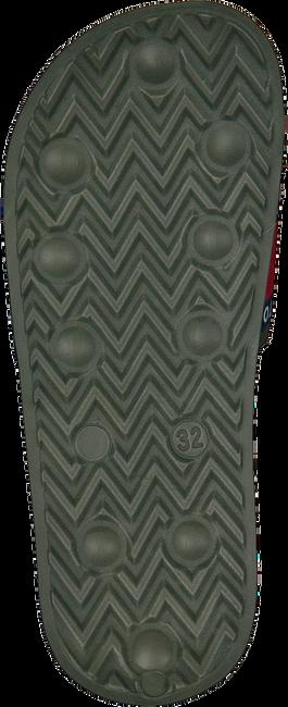 Grüne TOMMY HILFIGER Badelatsche FLAG PRINT POOL SLIDE  - large