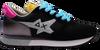 Schwarze SUN68 Sneaker low ALLY STAR GLITTER LOGO W  - small