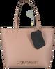 Beige CALVIN KLEIN Shopper CK MUST MEDIUM SHOPPER  - small