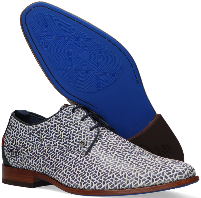 Blaue REHAB Business Schuhe GREG PYRAMID  - large