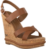 Cognacfarbene TOMMY HILFIGER Sandalen CORPORATE WEDGE  - small