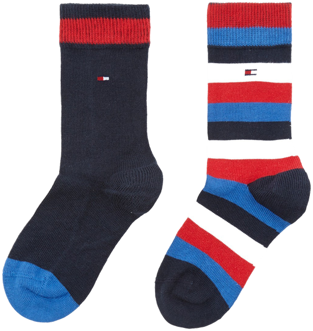 Blaue TOMMY HILFIGER Socken TH KIDS BASIC STRIPE SOCK 2P - large