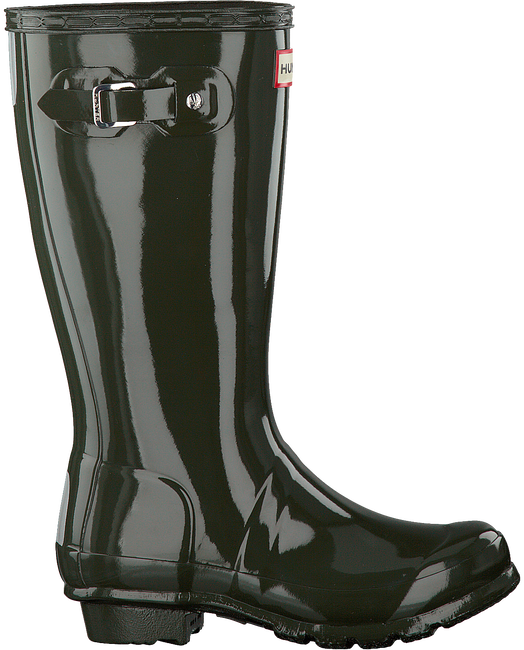 Grüne HUNTER Gummistiefel ORIGINAL KIDS GLOSS - large