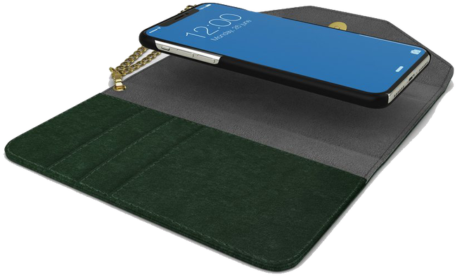 Grüne IDEAL OF SWEDEN Handy-Schutzhülle CLUTCH VELVET IPHONE 8/7/6/6S - large