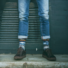 Schwarze XPOOOS Socken ON THE ROAD - small