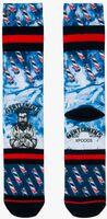Blaue XPOOOS Socken BARBER  - medium
