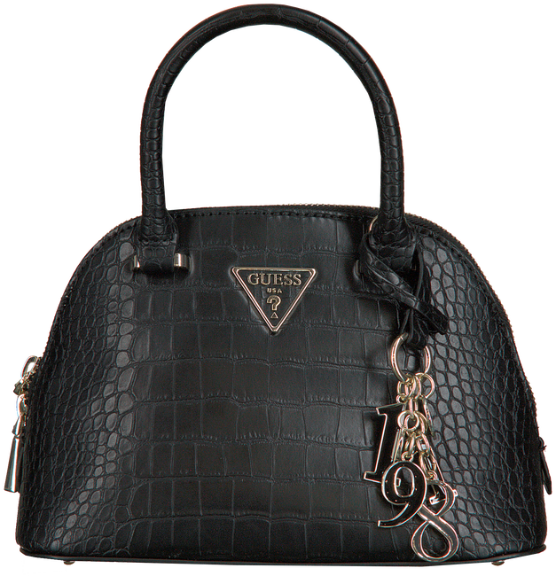 Schwarze GUESS Umhängetasche MADDY SMALL DOME SATCHEL  - large