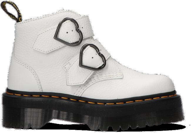 Weiße DR MARTENS Ankle Boots DEVON HEART  - large
