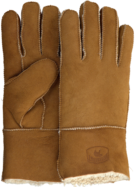Cognacfarbene WARMBAT Handschuhe GLOVES WOMEN  - large