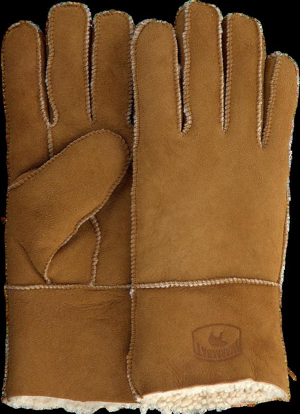 Cognacfarbene WARMBAT Handschuhe GLOVES WOMEN  - larger