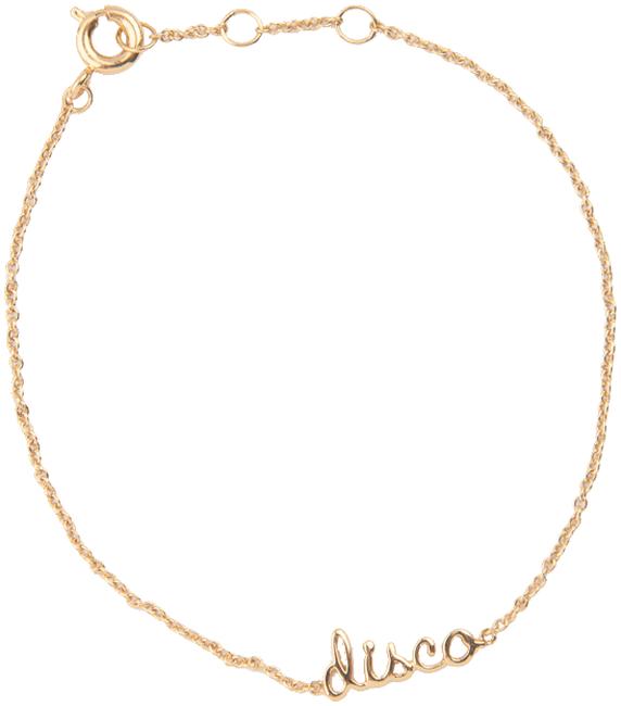 Goldfarbene ALLTHELUCKINTHEWORLD Armband URBAN BRACELET DISCO - large