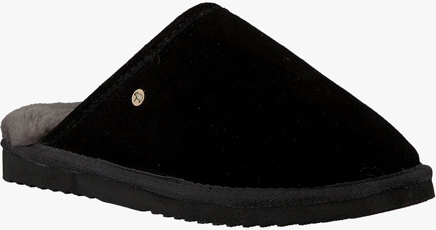 Schwarze WARMBAT Hausschuhe CLASSIC UNISEX SUEDE - larger
