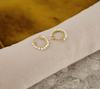 Goldfarbene NOTRE-V Ohrringe OORBEL KLEINE PARELS  - small