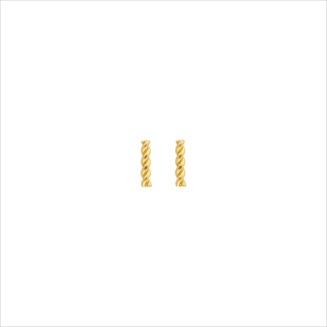 Goldfarbene ALLTHELUCKINTHEWORLD Ohrringe PETITE EARRINGS TWISTED STRIP - large