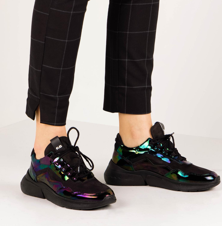 Schwarze FLORIS VAN BOMMEL Sneaker 85293