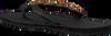 Schwarze OMODA KUBUNI Zehentrenner SLIPPER CIRCLE - small