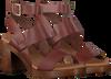 Cognacfarbene OMODA Sandalen 4538  - small