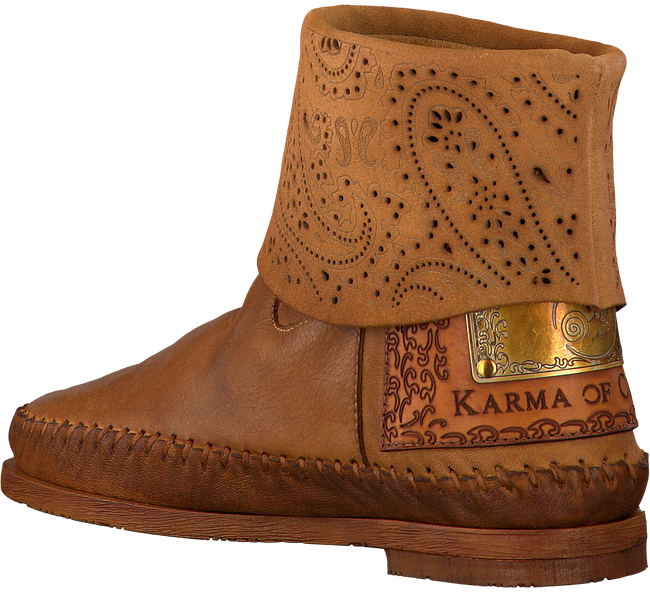 Cognacfarbene KARMA OF CHARME Stiefeletten HAMMAM - large