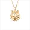 Goldfarbene ALLTHELUCKINTHEWORLD Kette SOUVENIR NECKLACE WOLF - small