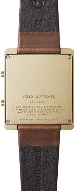 Goldfarbene VOID WATCHES Uhr V01MKII - large