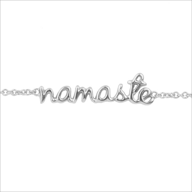 Silberne ALLTHELUCKINTHEWORLD Armband URBAN BRACELET NAMASTE - large