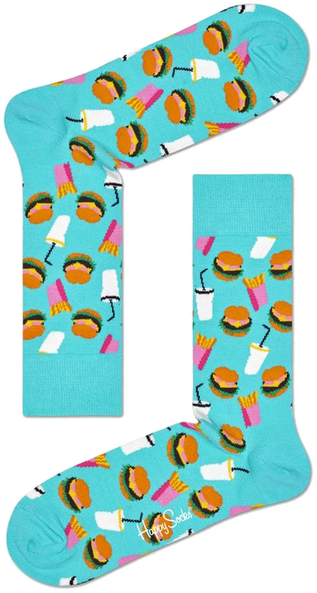 Blaue HAPPY SOCKS Socken HAMBURGER  - large