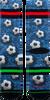 Mehrfarbige/Bunte XPOOOS Socken SOCCER FIELD  - small