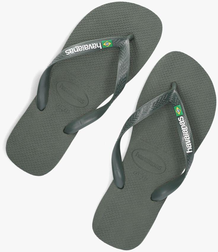 Grüne HAVAIANAS Pantolette BRASIL LOGO  - larger
