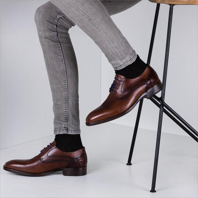 Braune BRAEND Business Schuhe 16318  - large